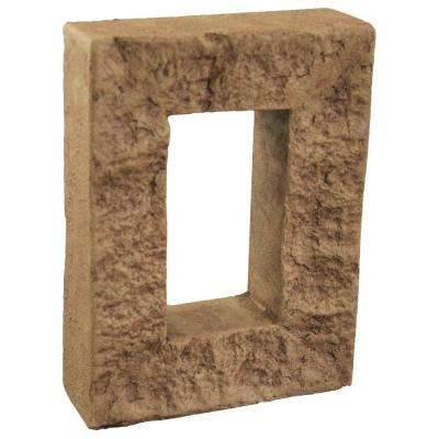 Cinnamon 7-7/8 in. x 6 in. x 1-7/8 in. Faux Outlet Cover