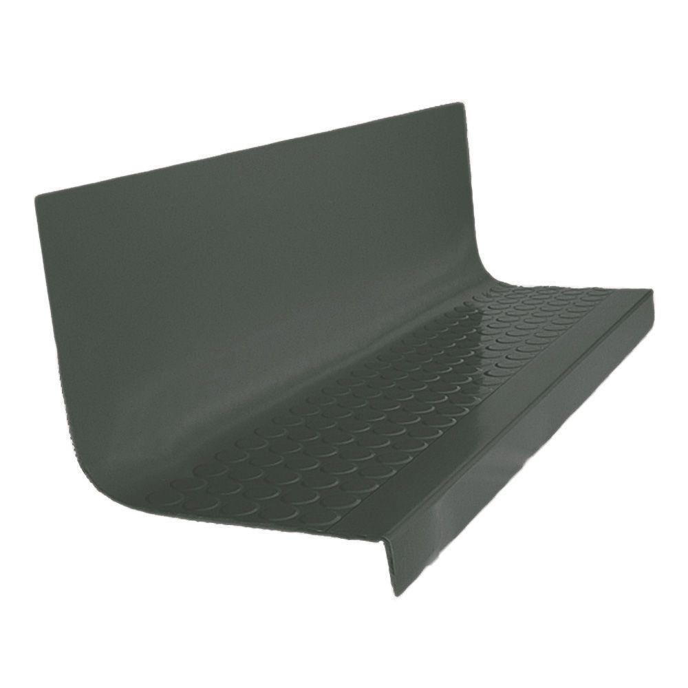 Vantage Circular Profile Black Brown 20.4 in. x 48 in. Rubber Square Stair Tread