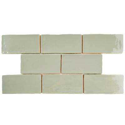 Chester Sage 3 in. x 6 in. Ceramic Wall Tile (1 sq. ft. / pack)