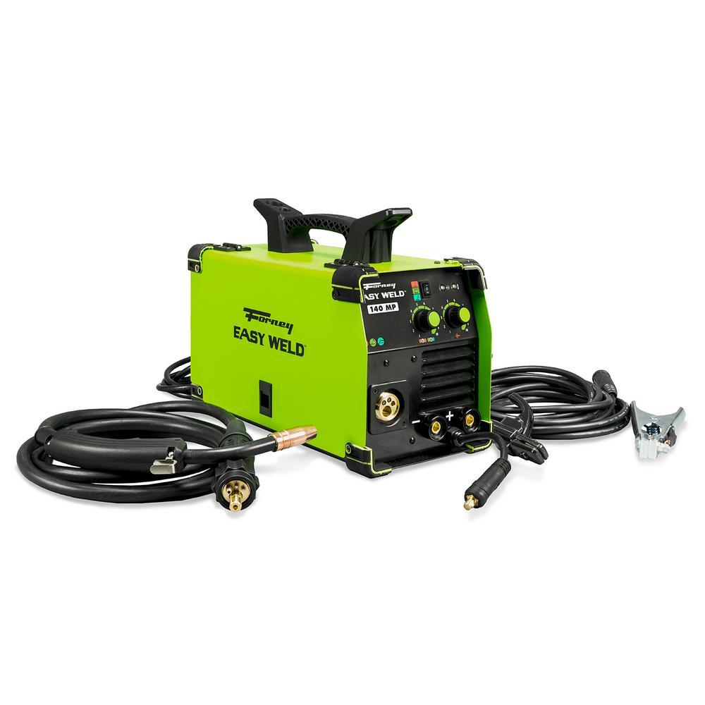 Forney 120-Volt 140 Amp Easy Weld Multi-Process (MIG/TIG/Stick) Welder