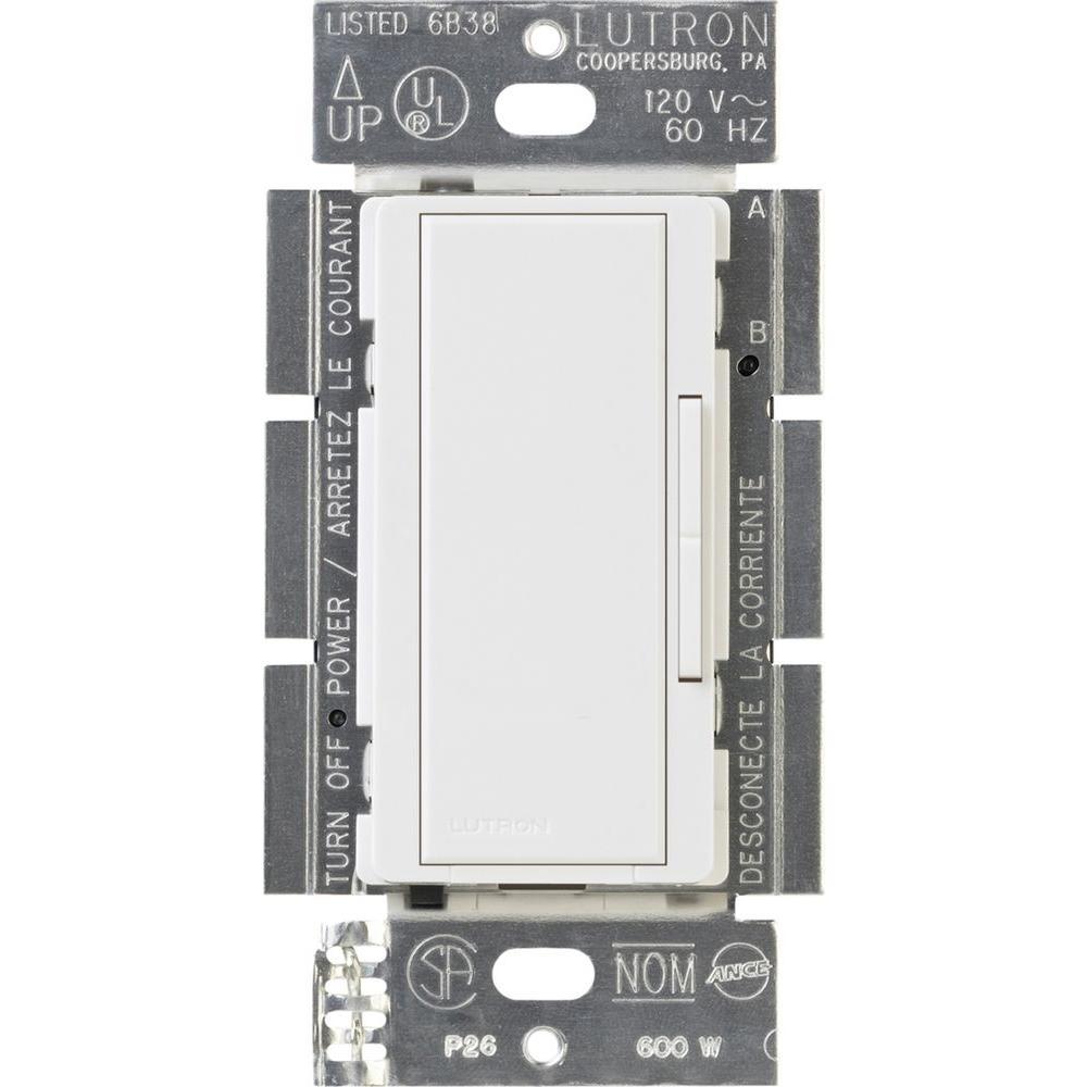 Lutron Maestro 600-Watt Multi-Location Companion Dimmer - White