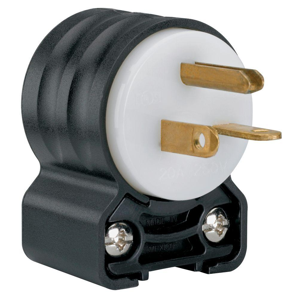 Pass & Seymour 20 Amp 250-Volt NEMA 6-20P Straight Blade Angle Plug