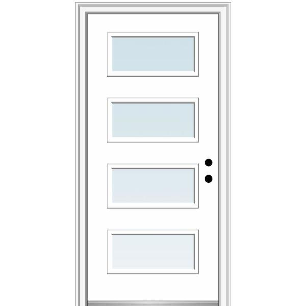 Mmi Door 32 In X 80 In Celeste Left Hand Inswing 4 Lite Clear Low E Glass Painted Steel Prehung Front Door On 4 9 16 In Frame Z0350997l The Home Depot