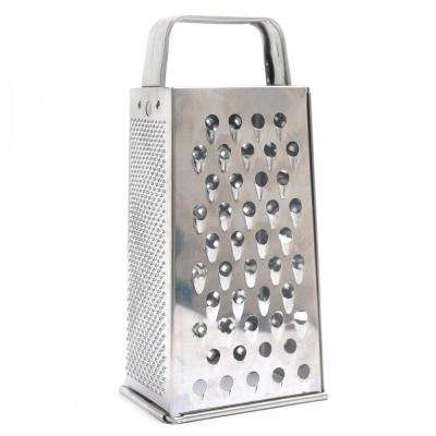 Stainless Steel Grater with Built-In Handles