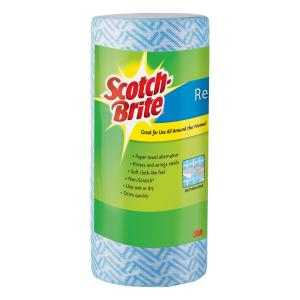 Scotch Brite Blue Multi Use Reusable Wipes 40 Perforated