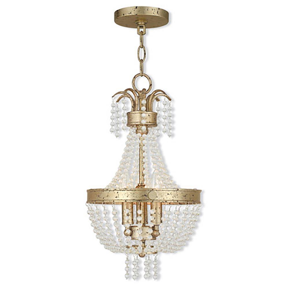 Valentina 3-Light Winter Gold Pendant