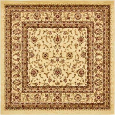 6 X 6 Square Cream Area Rugs Rugs The Home Depot
