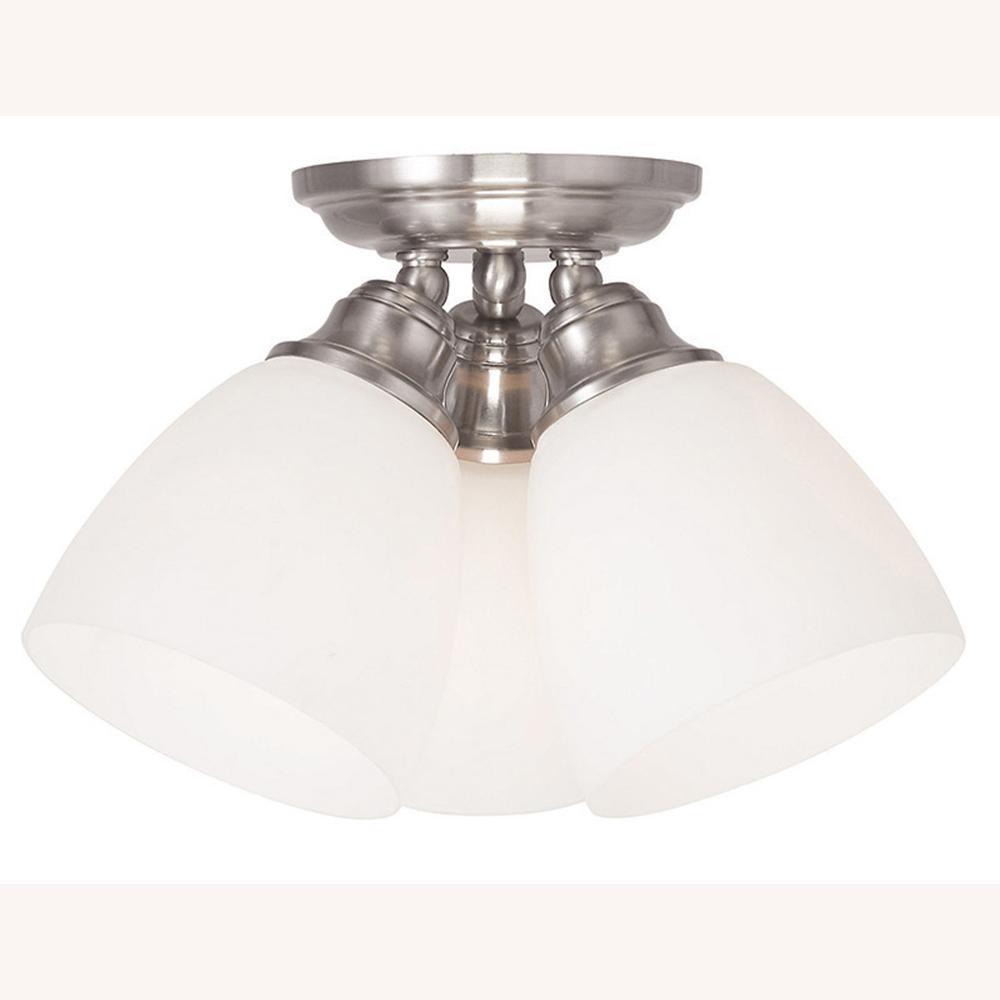 Somerville 3-Light Brushed Nickel Flushmount