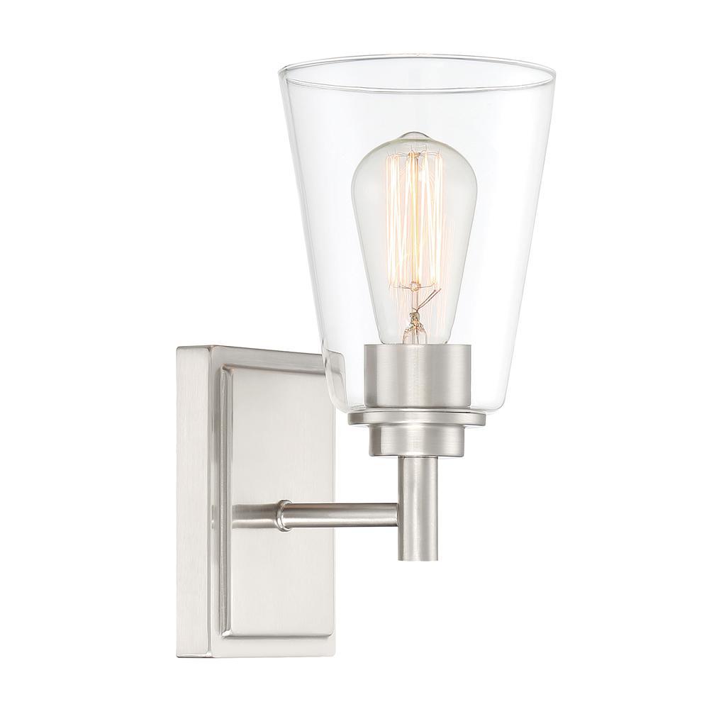 Westin 1-Light Satin Platinum Wall Sconce