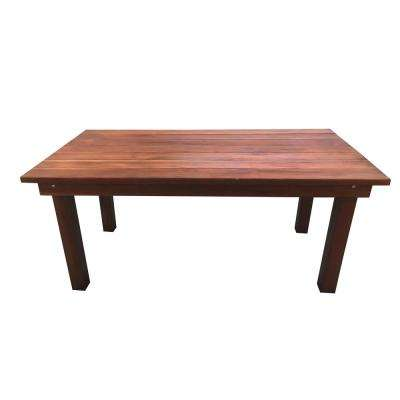 Farmhouse Mission Brown 9 ft. Redwood Outdoor Dining Table