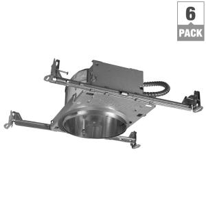 Halo H27 6 inch Aluminum Recessed Lighting Housing for New Construction Shallow Ceiling, Insulation Contact,... by Halo