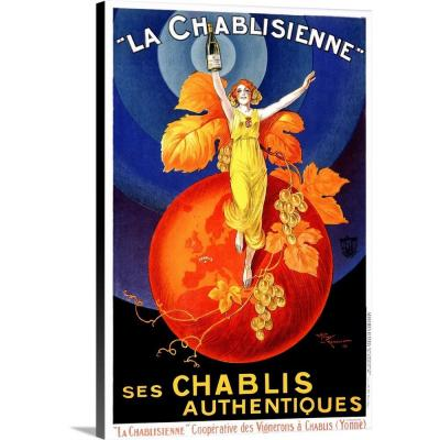Chablisienne Chablis Wine Vintage Advertising Poster by ArteHouse Canvas Wall Art