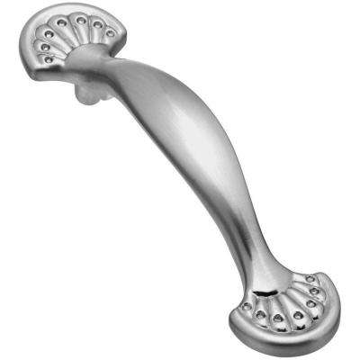 3 in. Satin Nickel Fan Design Pull