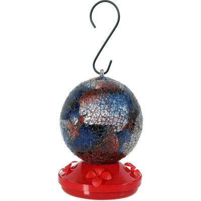 Mosaic Glass Hummingbird Feeder