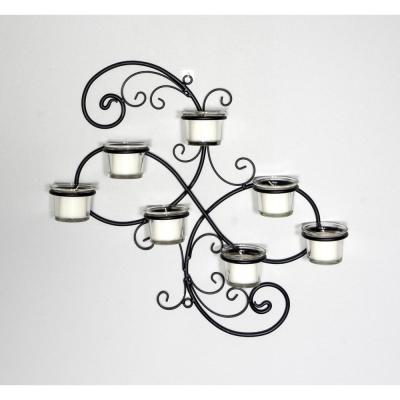 Black Candle Wall Sconce