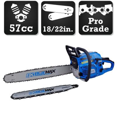 2-in-1 22 in. and 18 in. 57cc Gas Chainsaw Combo