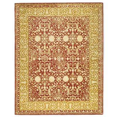 Silk Road Maroon/Ivory 9 ft. 6 in. x 13 ft. 6 in. Area Rug