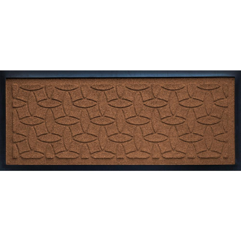 Dark Brown 15 in. x 36 in. Ellipse Boot Tray, Browns/Tans