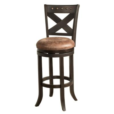 Brantley 26 in. Deep Bronze Swivel Counter Stool
