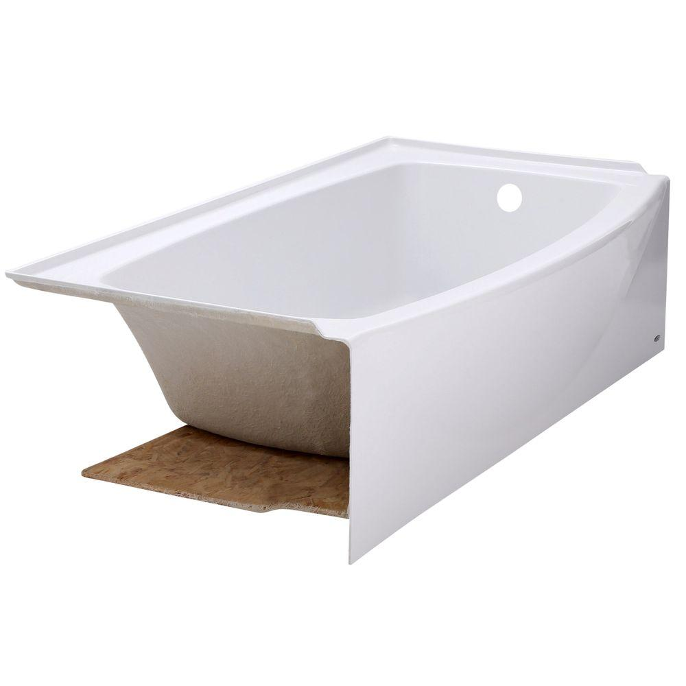 Superior Right Drain Bathtub In Arctic White