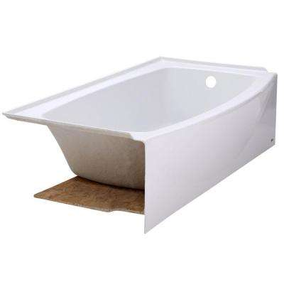Ovation 5 ft. Right Drain Bathtub in Arctic White