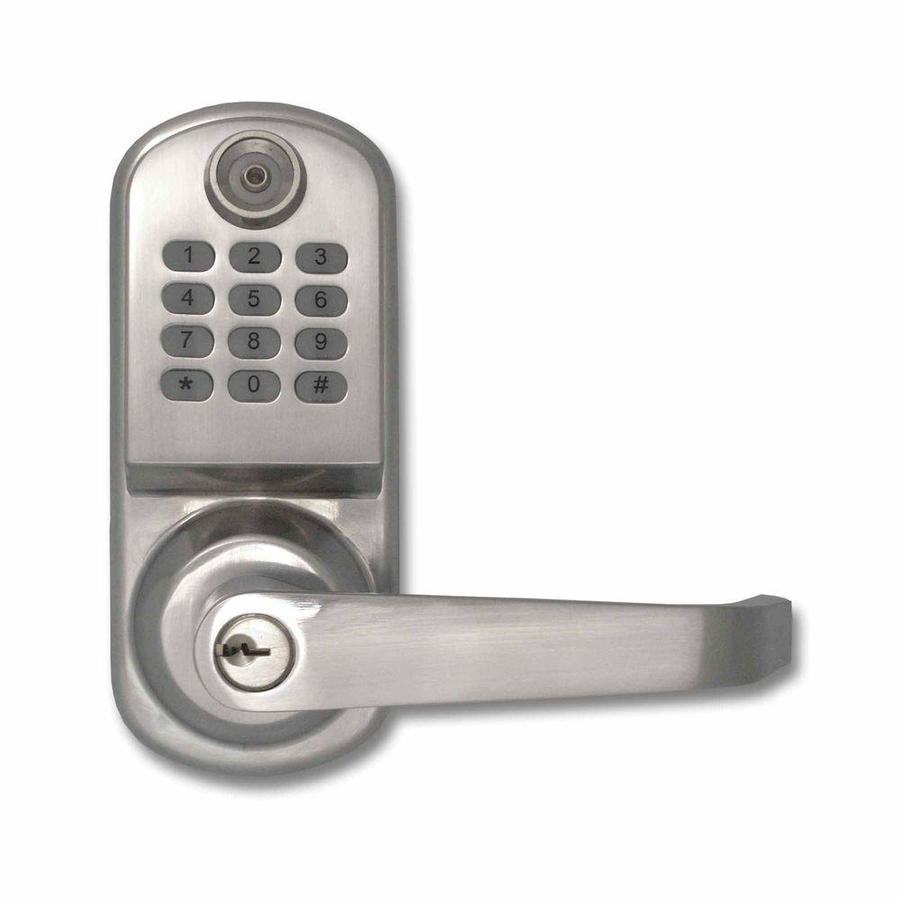 Beau ResortLock 800 Code Lighted Keypad Digital Remote Code Single Cylinder  Silver Door Lock