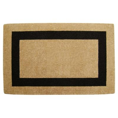 Single Picture Frame Plain Black 30 in. x 48 in. HeavyDuty Coir Door Mat