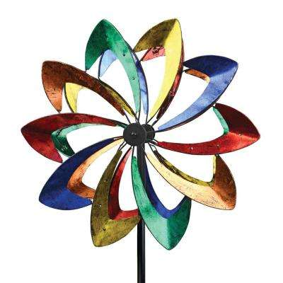 75 in. Spinner Multi Color Petal