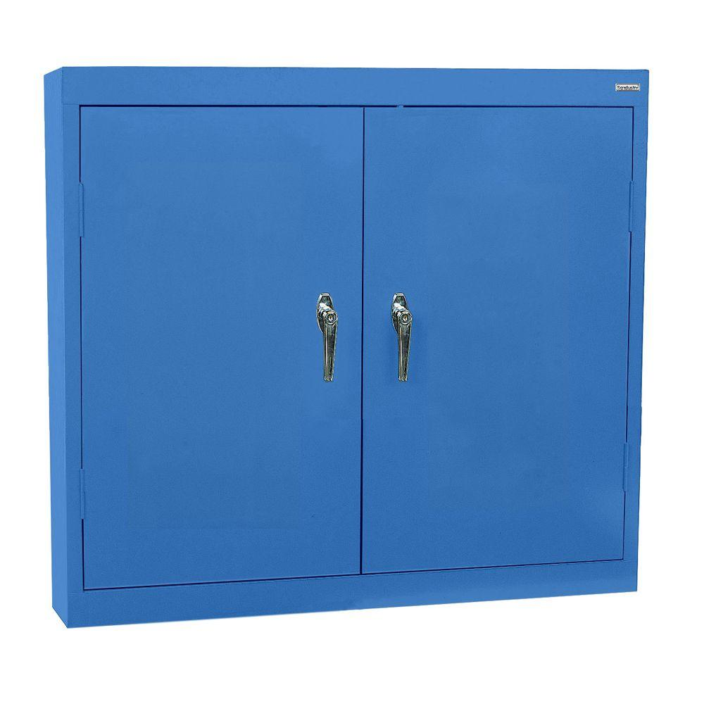 Sandusky 30 in. H x 36 in. W x 12 in. D Steel Wall Cabinet in Blue