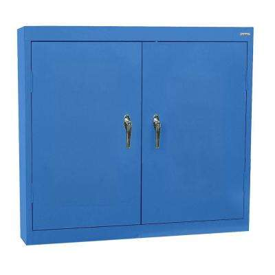 30 in. H x 36 in. W x 12 in. D Steel Wall Cabinet in Blue
