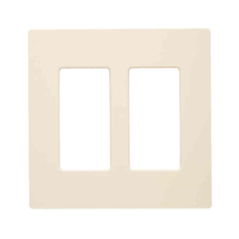 Claro 2 Gang Decorator Wallplate, Light Almond