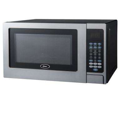 Countertop Microwave Stainless Steel Black .7 cu. Ft. 700-Watt with Push Button