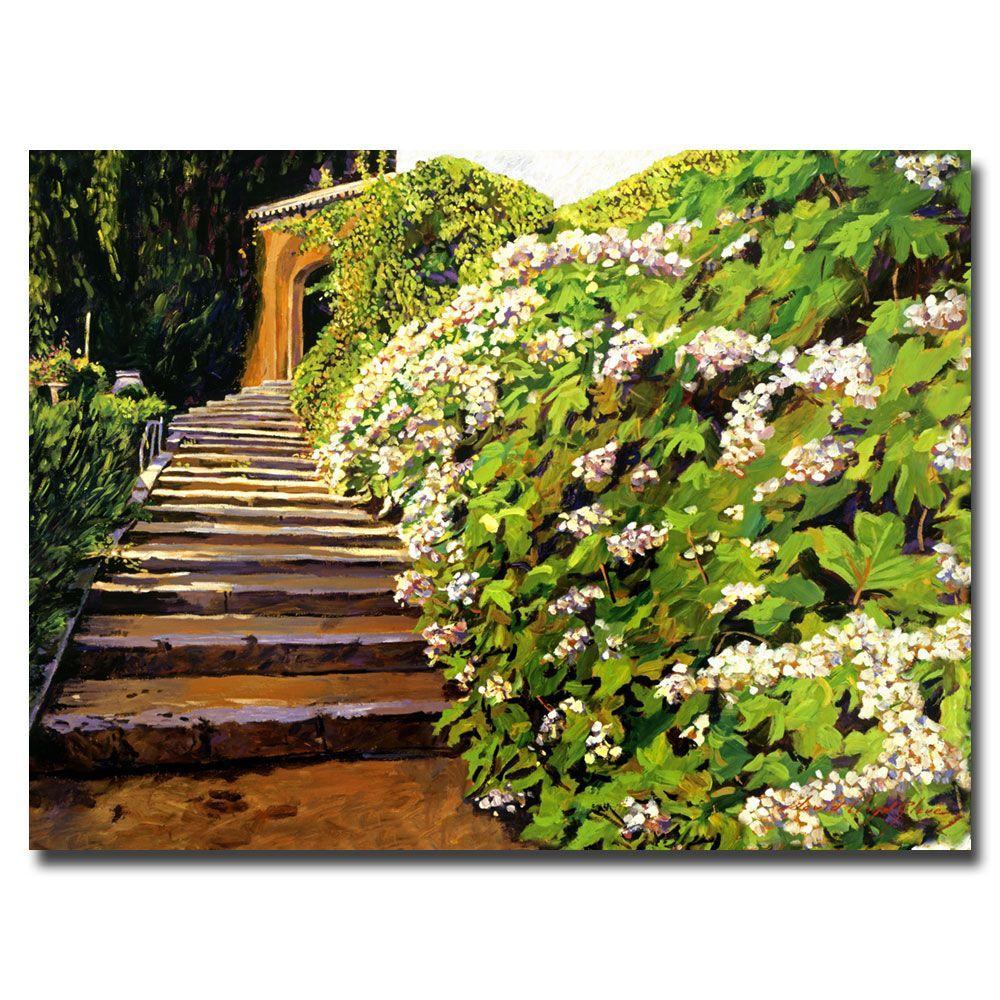 24 in. x 32 in. Garden Stairway, Tuscany Canvas Art