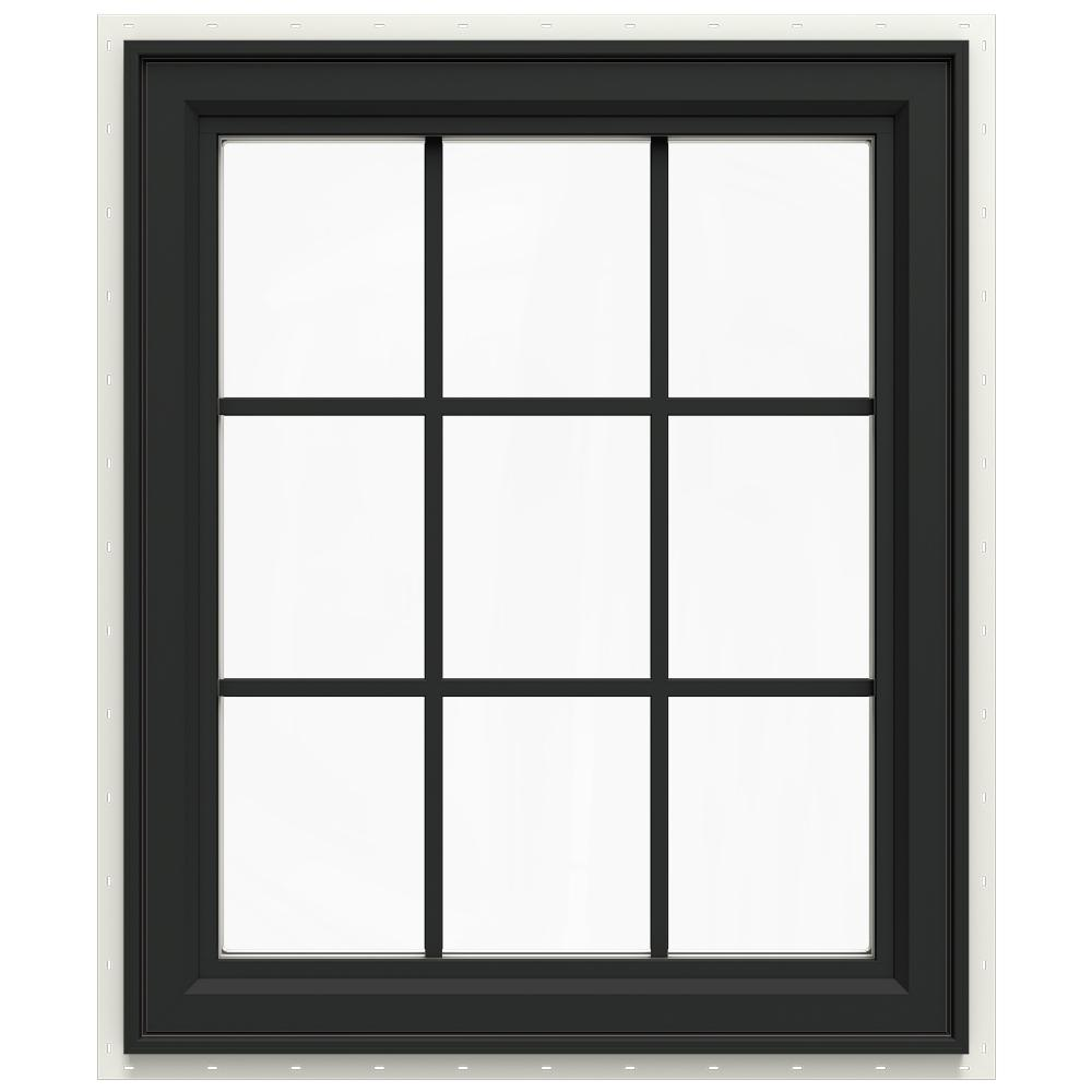 29.5 in. x 35.5 in. V-4500 Series Left-Hand Casement Vinyl Window