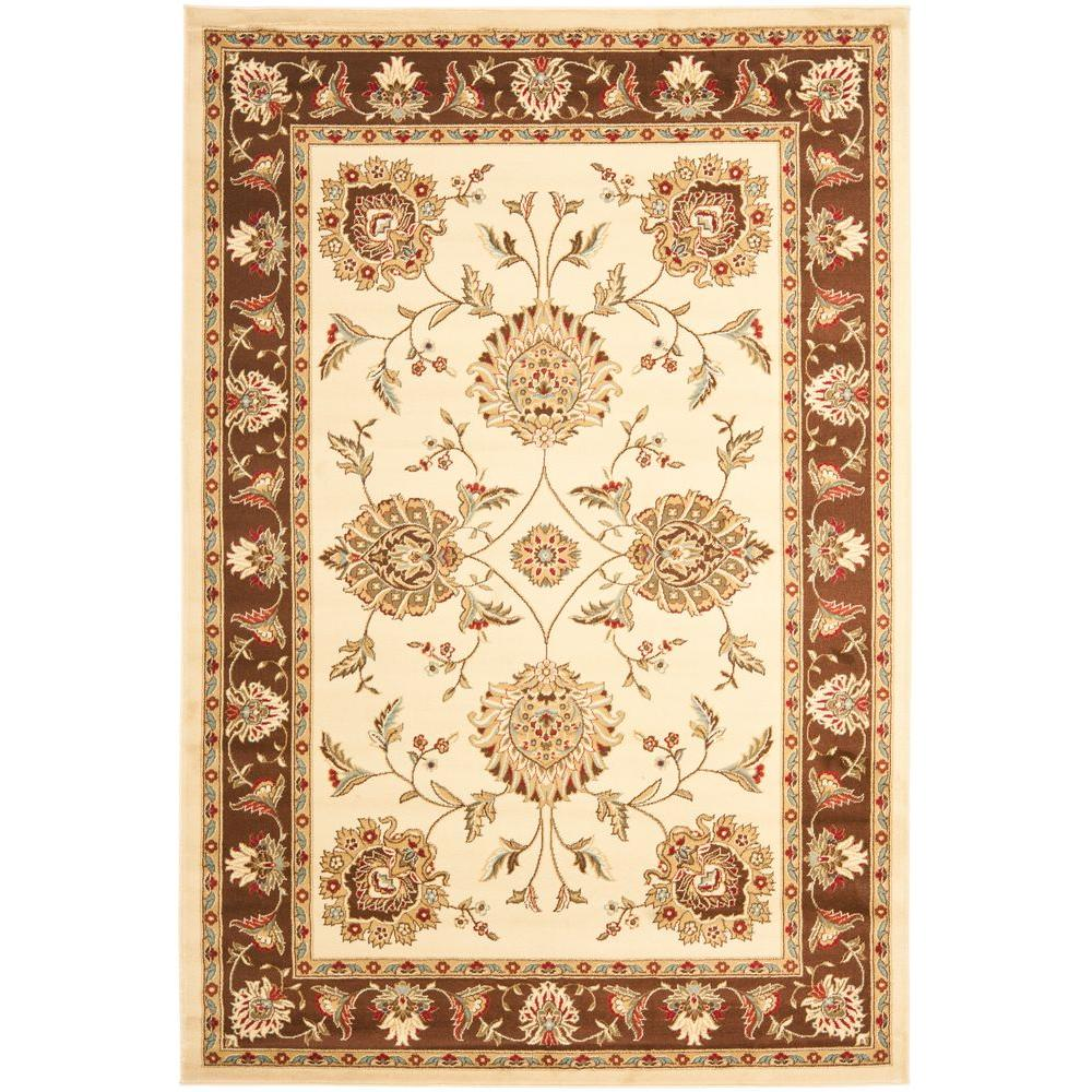 Safavieh Lyndhurst Ivory/Brown 6 ft. 7 in. x 9 ft. 6 in. Area Rug