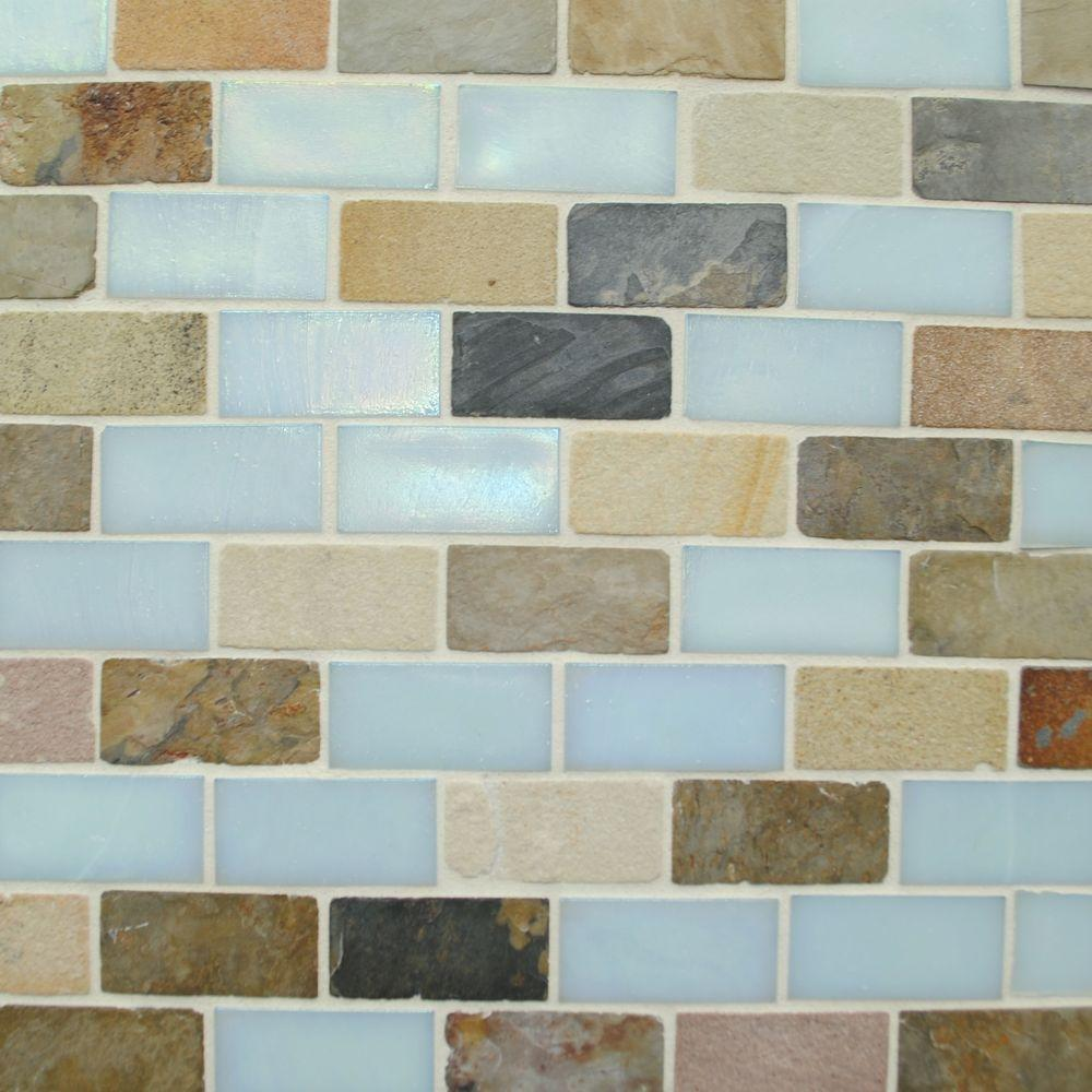 Studio E Edgewater 10-5/8 in. x 10-5/8 in. Summerland Mosaic Tile-DISCONTINUED