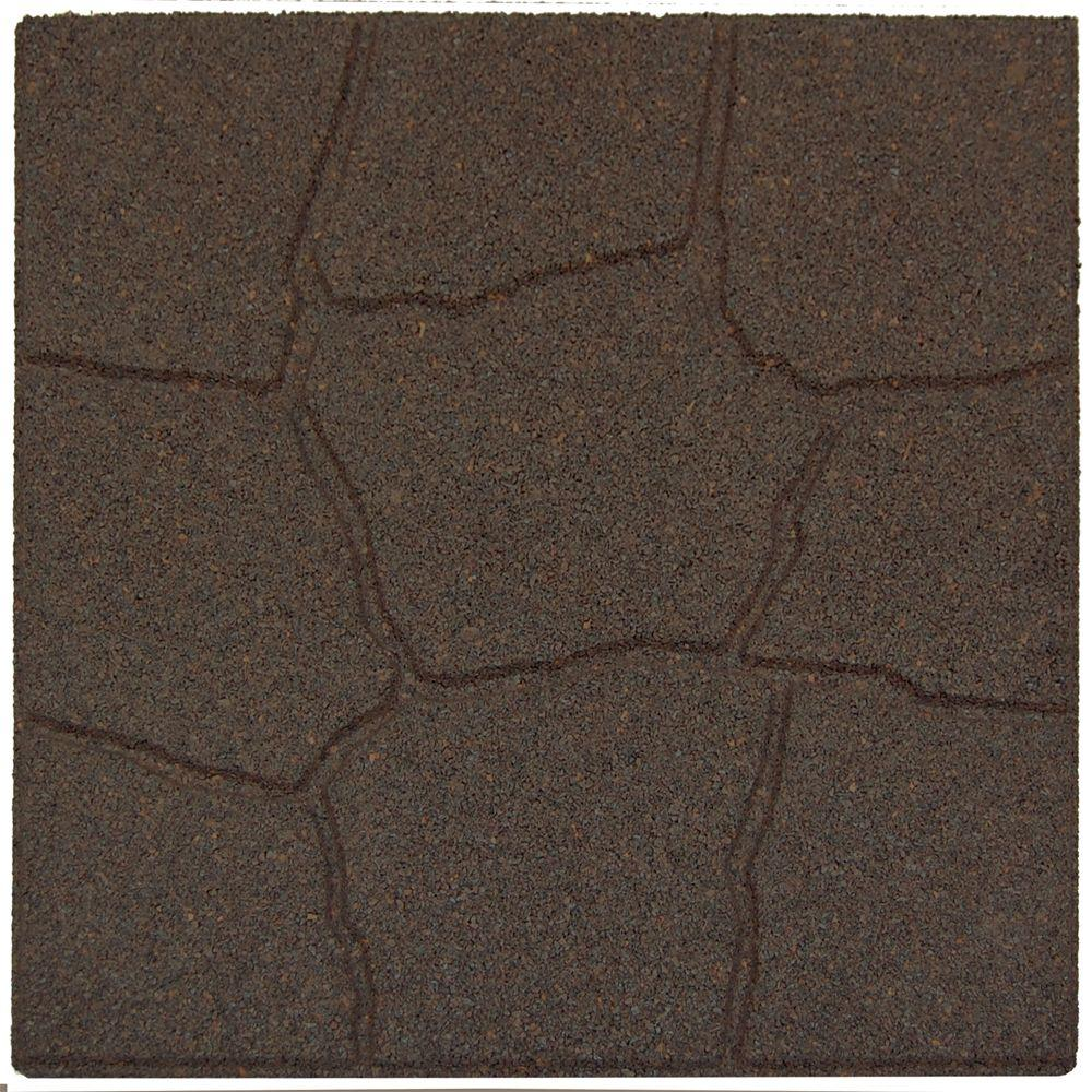 Envirotile 18 in. x 18 in. Flagstone Earth Rubber Paver