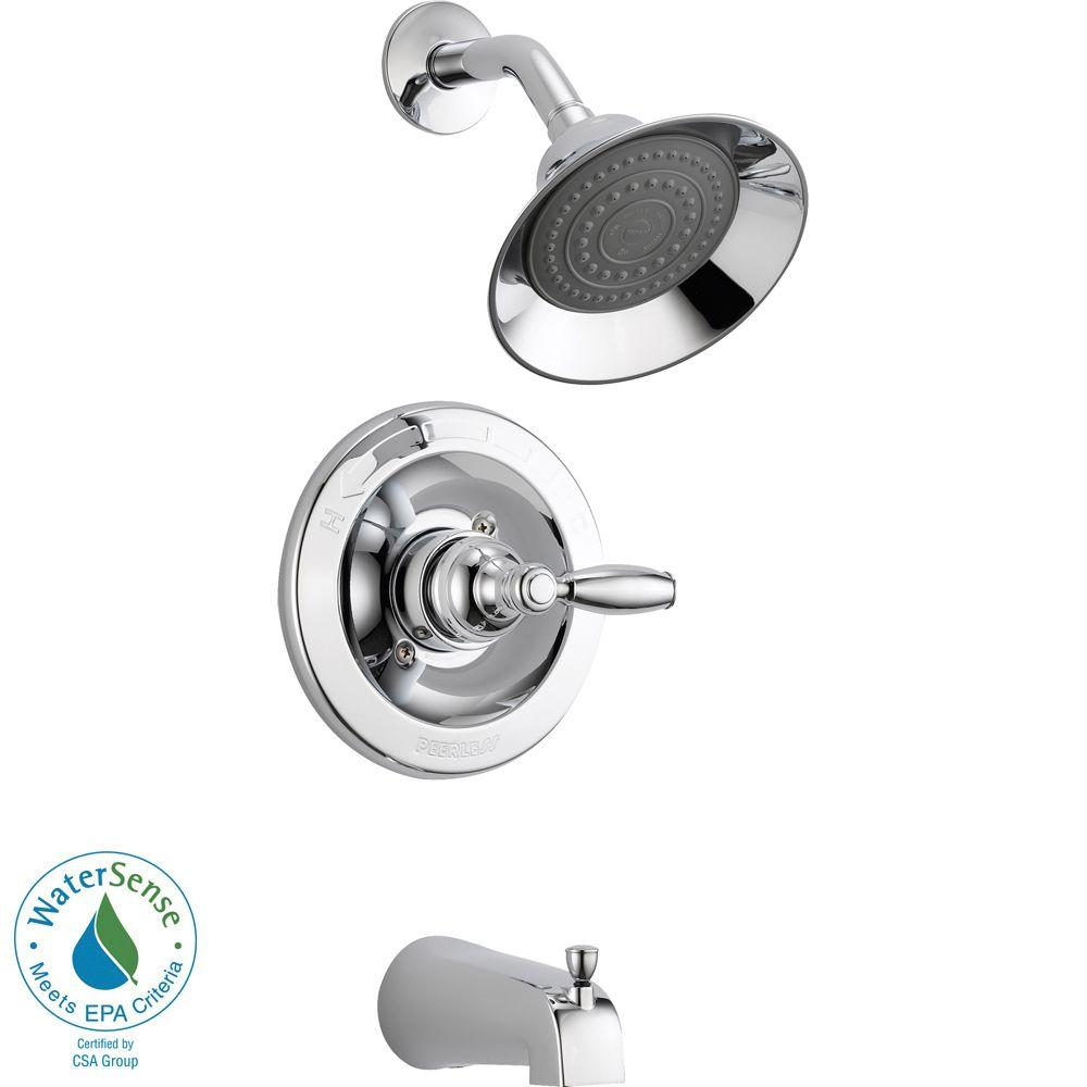 Peerless Single Handle Tub And Shower Faucet Trim Kit In Chrome Diagram 2 10 From 11 Votes Delta Valve Not Included