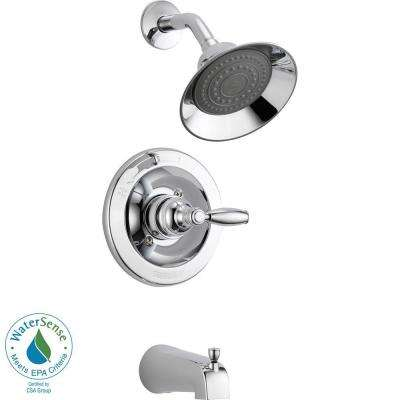 Single-Handle Tub and Shower Faucet Trim Kit in Chrome (Valve Not Included)