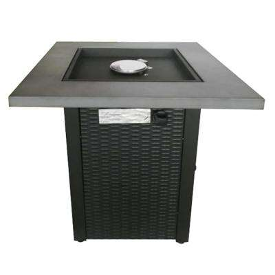 28 in. Square Gas Firepit with Steel Top