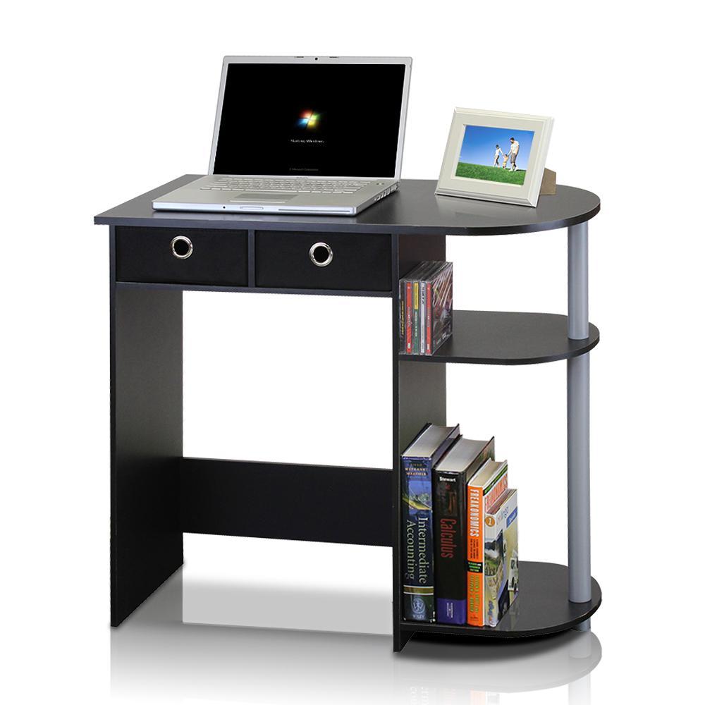 Go Green Black Computer Desk With Bin Drawer