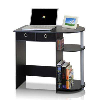Go Green Black Computer Desk with Bin Drawer