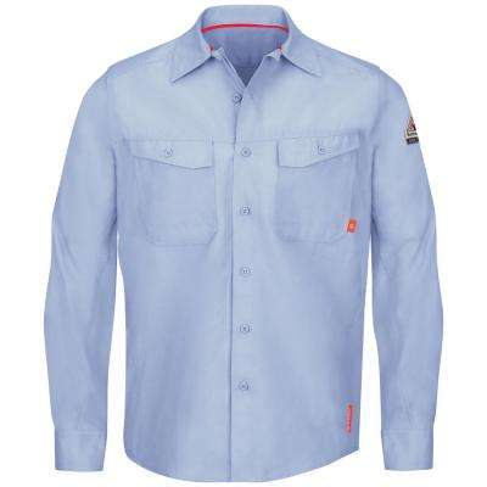 iQ Series Men's 6X-Large (Tall) Light Blue Endurance Work Shirt