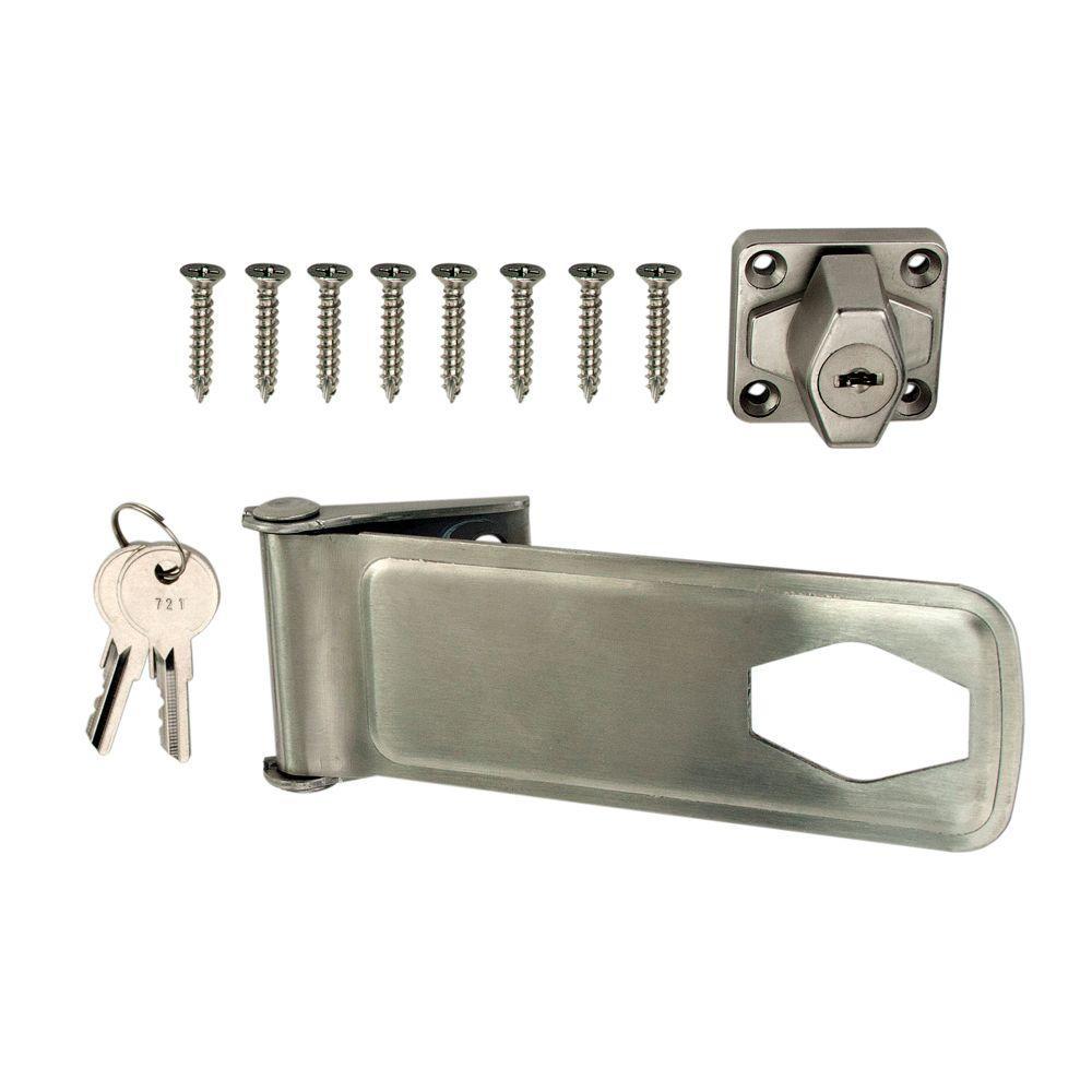 6 in. Stainless Steel Key Locking Hasp