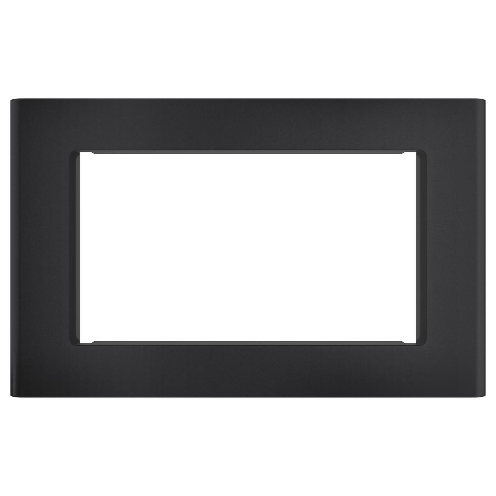 Cafe Microwave Optional 27 in. Built-In Trim Kit in Matte Black, Fingerprint Resistant Get a custom appearance for your microwave with the Cafe Built-In 27 in. Microwave Trim Kit in Matte Black. With a timeless look, this trim kit is ideal for the home or office to be enjoyed for years and years to come. It is intended for the Cafe 2.0 or 1.8 cu. ft. microwave oven.