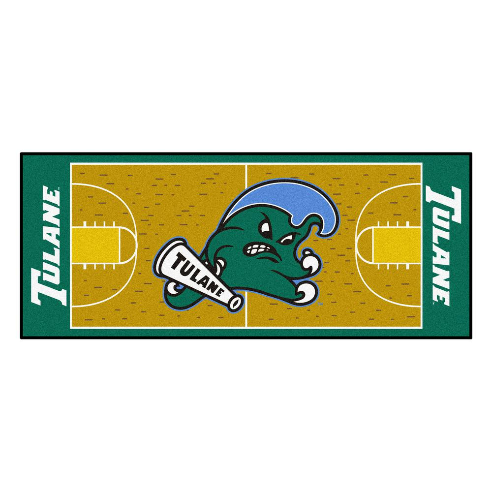info for c55f2 4db57 FANMATS NCAA Tulane University 30 in. x 72 in. Basketball Court Runner Rug