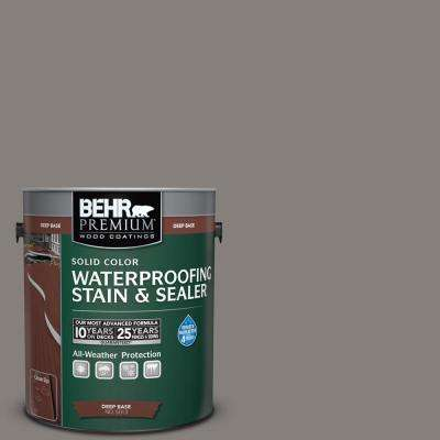 1 gal. #PPU18-17 Suede Gray Solid Waterproofing Stain and Sealer