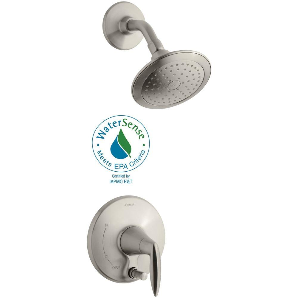 Alteo 1-Handle Shower Faucet Trim Kit with Push-Button Diverter in Vibrant