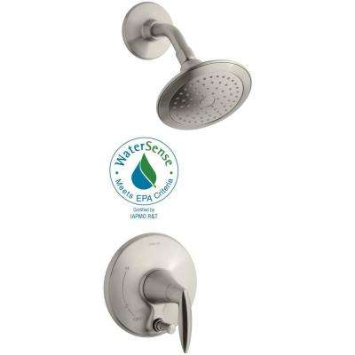 Alteo 1-Handle Shower Faucet Trim Kit with Push-Button Diverter in Vibrant Brushed Nickel (Valve Not Included)