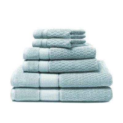 Royale 6-Piece 100% Turkish Cotton Bath Towel Set in Spa Blue